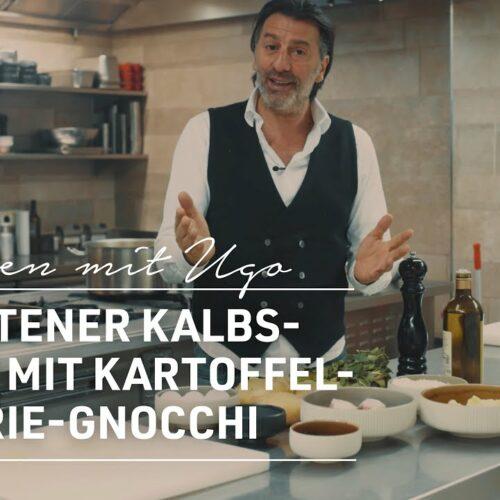 Gebratener Kalbsbauch mit Kartoffel-Sellerie-Gnocchi